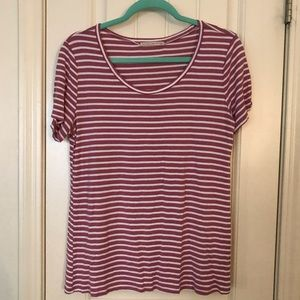 ACTIVE USA | Mauve Stripe Top